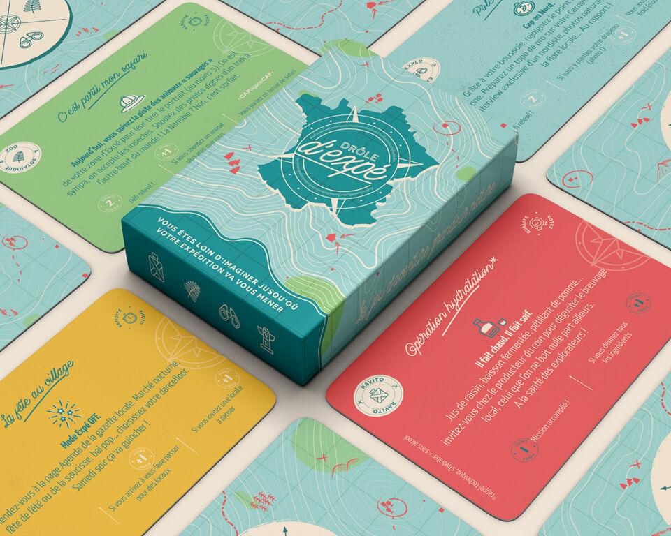 Drôle d'Expé_Le jeu et ses cartes